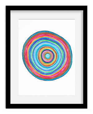 Rainbow Circle 8x10 Art Print by Tanya Madoff
