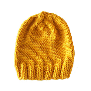 Outer Sunset Hat - Sunshine, Knitted by Hand