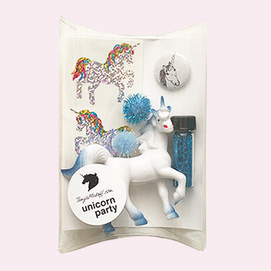 The Unicorn Party Pack in Blue - the perfect party favor or stocking stuffer for unicorn lovers!