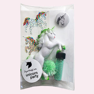 The Unicorn Party Pack in Green - the perfect party favor or stocking stuffer for unicorn lovers!