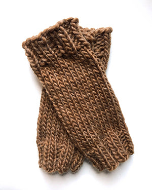 Outer Sunset Fingerless Mitts - Caramel