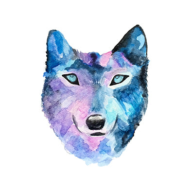 Watercolor Wolf Print