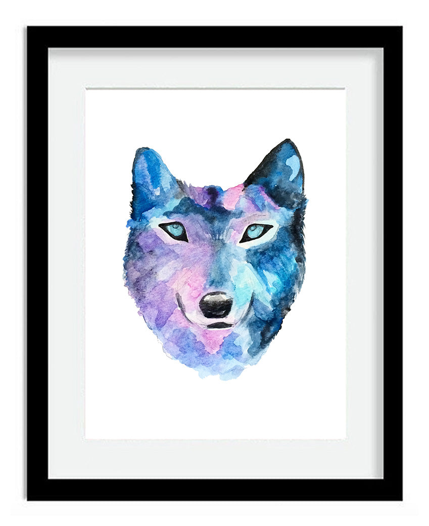 Watercolor Wolf 8x10 Art Print by Tanya Madoff