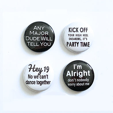 Yacht Rock Vol.1 - Set of Four Pin-Back Buttons