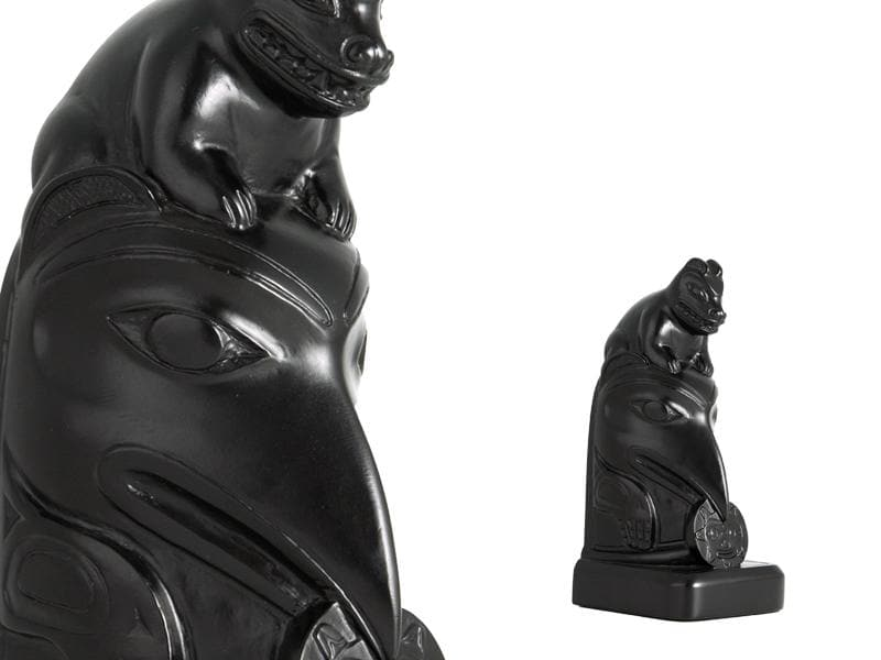 Bookend - Totem Raven Sculpture (7 inches)