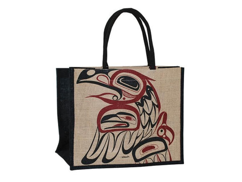 Bill Helin Raven Jute Tote Bag Natural