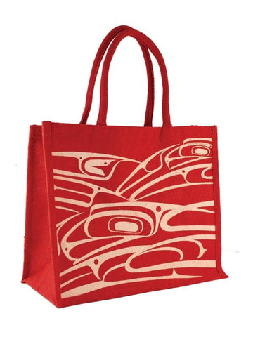 Connie Dickens Jute Bag Raven Red