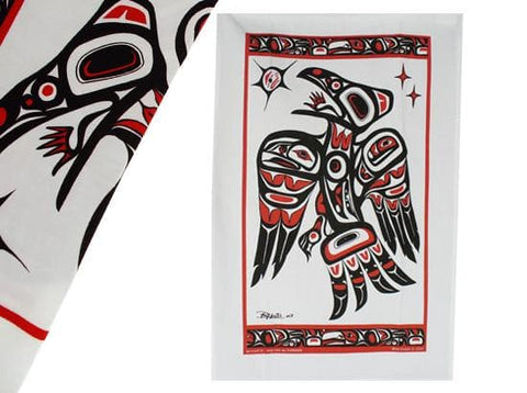 Bill Helin Raven Tea Towel
