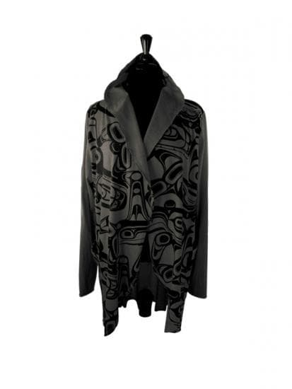 All Over Jacket KR Whale Charcoal - M/L
