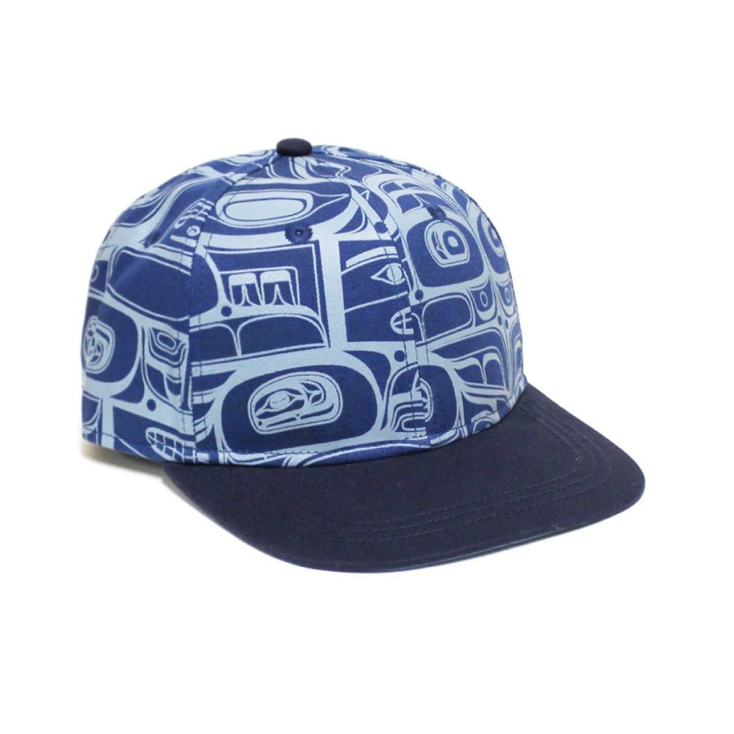 Snap Back Hats - Sgaan (Whale) by Kwiaahwah Jones