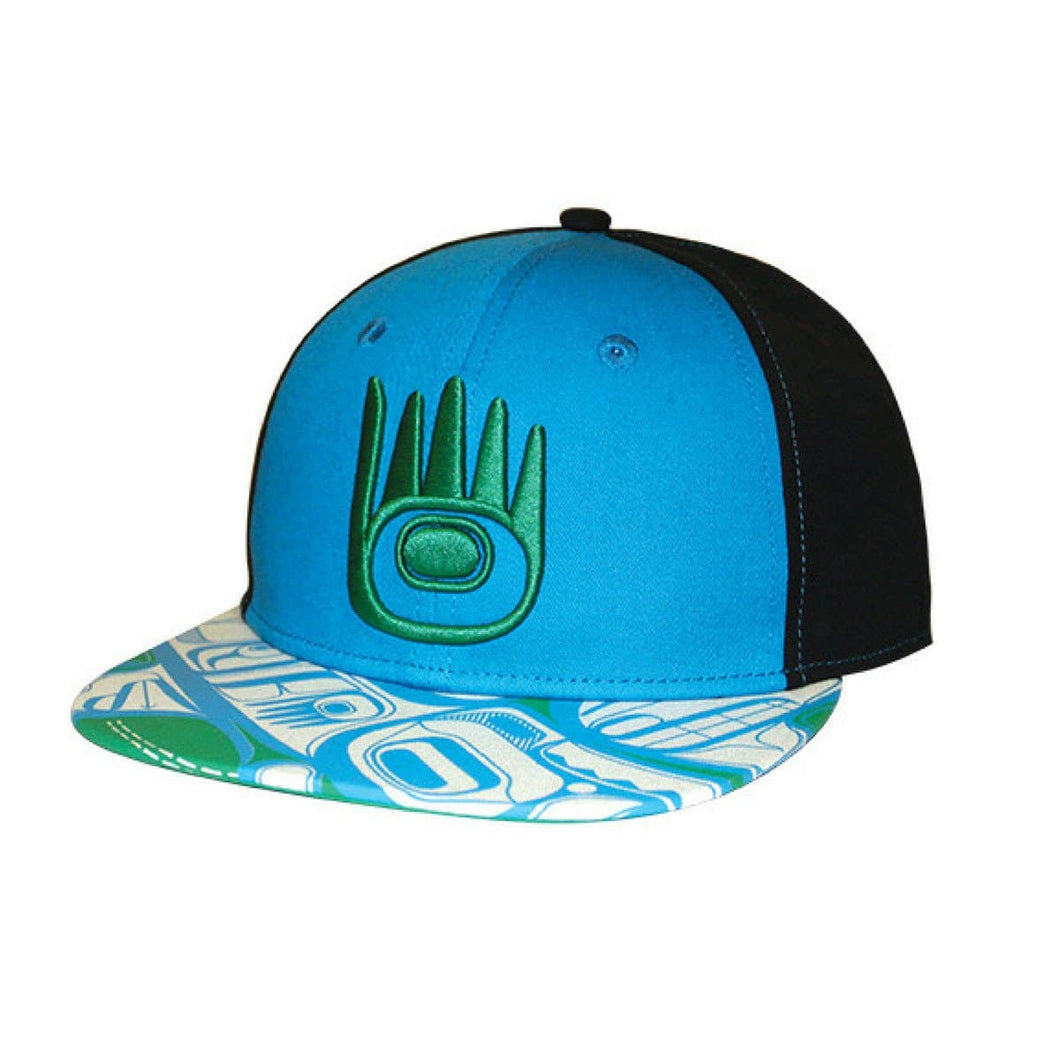 Snap Back Hats - Protect our water by Corey Bulpitt, Haida