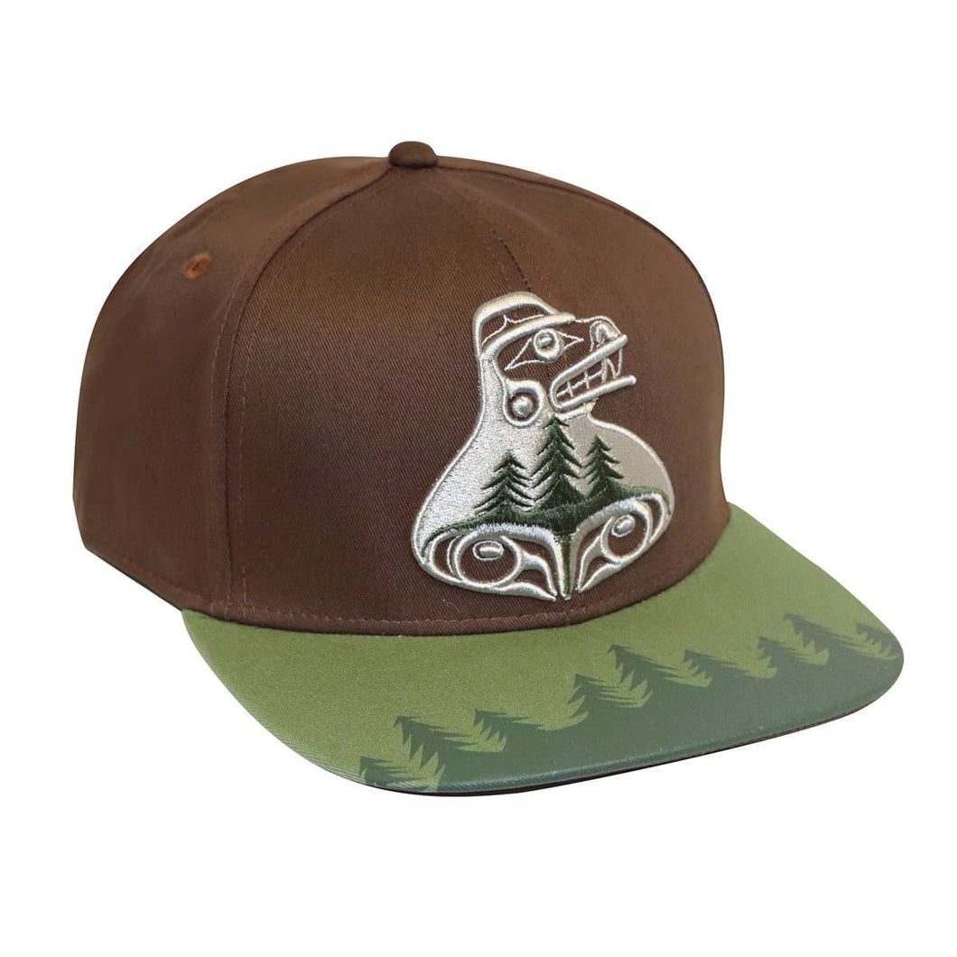 Snap Back Hat - Bear The Tree Hugger by Allan Weir