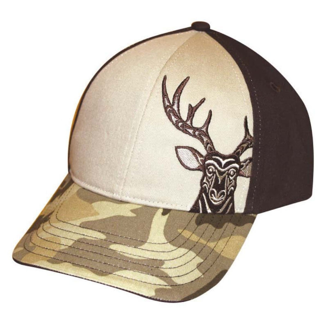 Stretch Fit Cap - Deer by Simone Diamond, M/L
