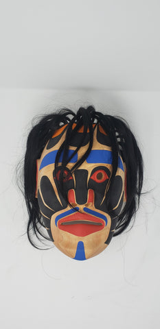 Alikwamae Mask on Alder by Shawn Karpes