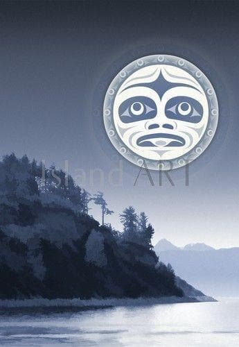 Art Card - Under a Salish Moon - Andy Everson