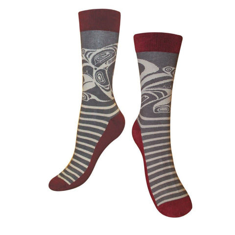Art Socks - Wolf by Trevor Angus, M/L