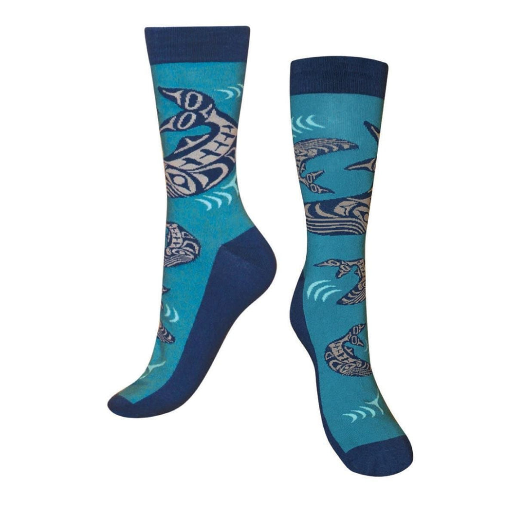 Art Socks - Humpback Whales by Ben Houstie, M/L