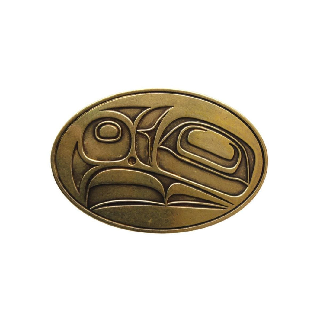Belt Buckle - Eagle - Corey Bulpitt (Antique Brass Finish)