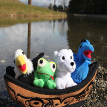 "Load image into Gallery viewer, 12"" Canoe with 3 Finger Puppets"