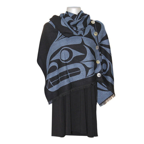 Button Shawl - Thunderbird and Whale by Maynard Johnny Jr.