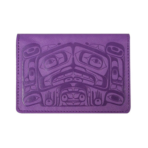 Card Wallet - Raven Box by Allan Weir, Purple