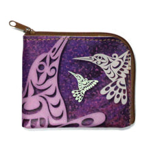 Load image into Gallery viewer, Coin Purse - Hummingbird by Joe Wilson-Sxwaset