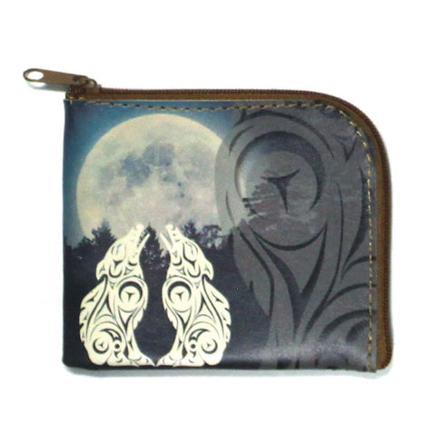 Coin Purse - Wolves by Darrell Thorne