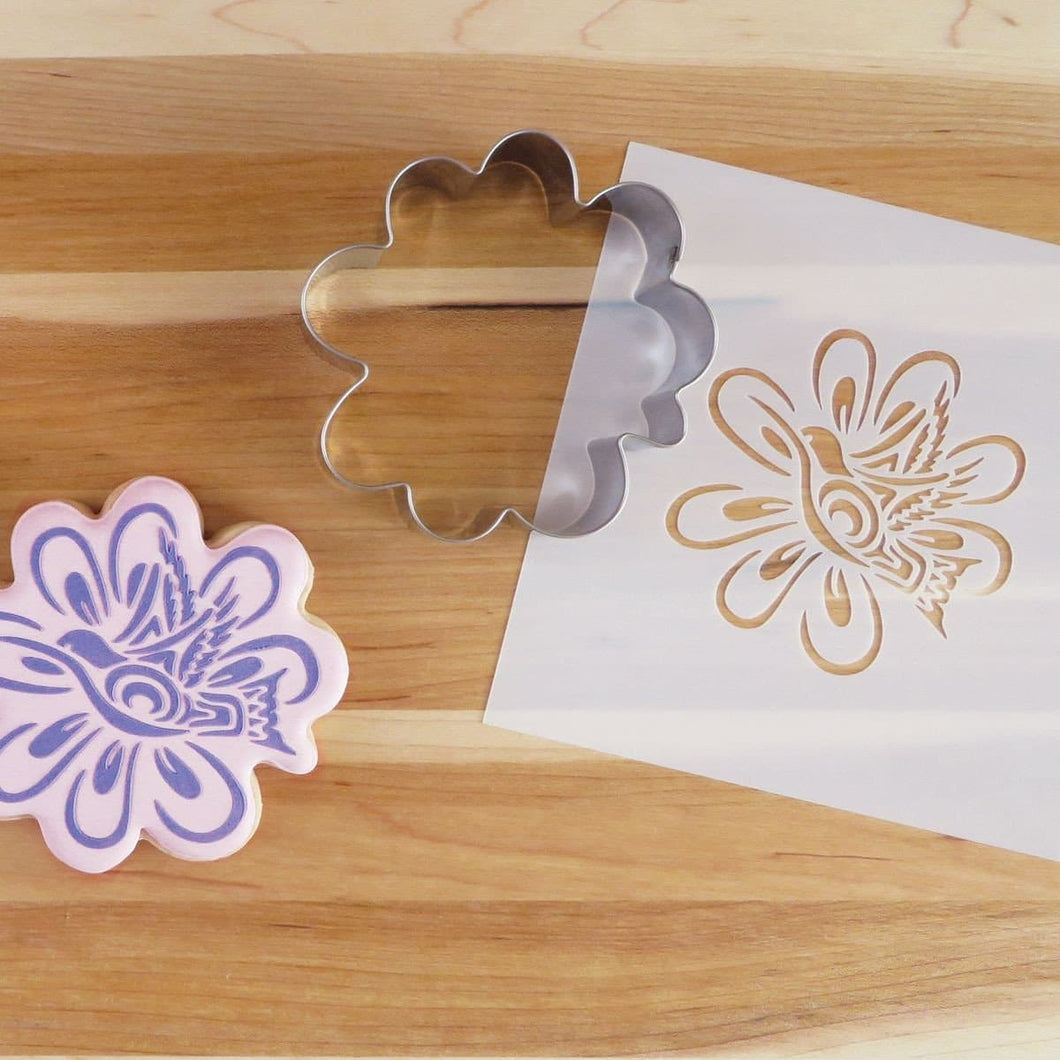 Cookie Cutter and Stencil Set - Hummingbird