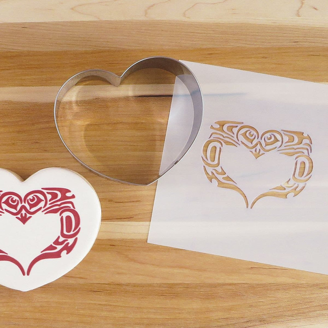 Cookie Cutter and Stencil Set - Love Birds