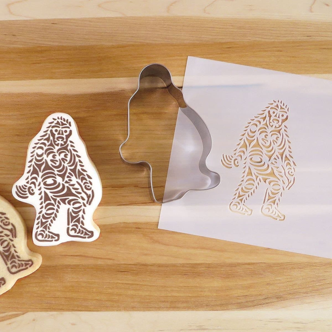 Cookie Cutter and Stencil Set - Sasquatch