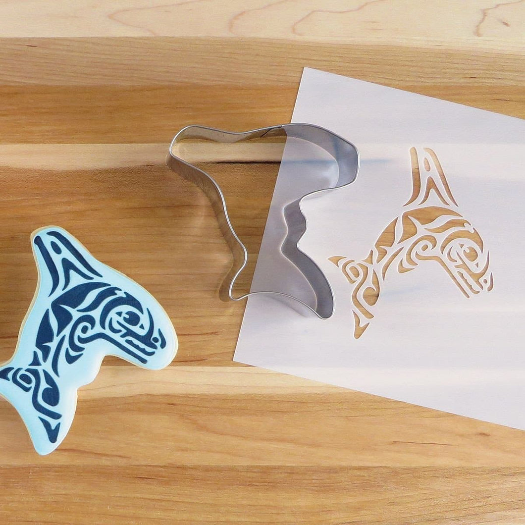 Cookie Cutter and Stencil Set - Whale