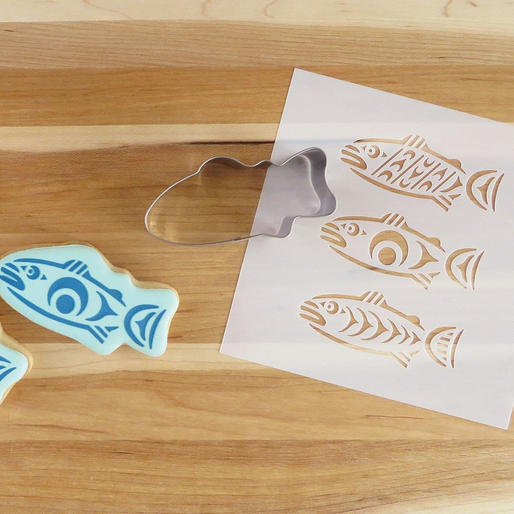 Cookie Cutter and Stencil Set - Salmon in the Wild