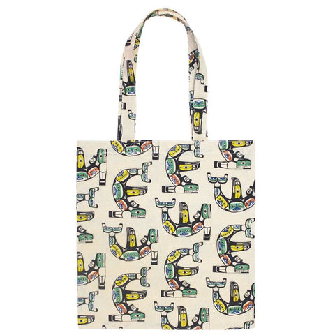 Cotton Eco Tote - Chilkat Whale by Ben Houstie