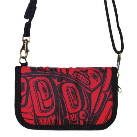 Crossbody Travel Wallets - Morgan Asoyuf (Red/Black)