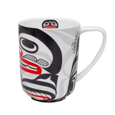 Curtis Wilson Killer Whale Crosshatch Porcelain Mug