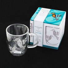 Load image into Gallery viewer, Francis Dick Hummingbird Double-Wall Glass Mug