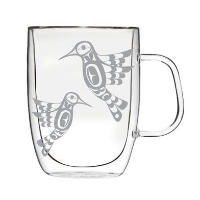 Francis Dick Hummingbird Double-Wall Glass Mug