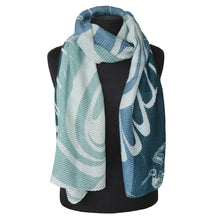 Load image into Gallery viewer, Eco Scarf - Blue Heron by Paul Windsor