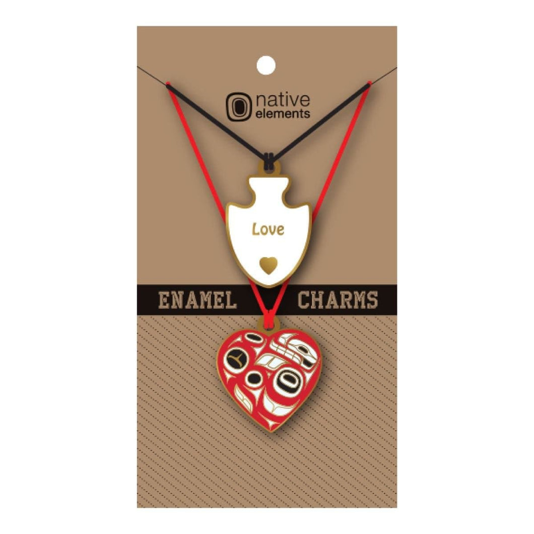 Enamel Charms - Heart by Ben Houstie