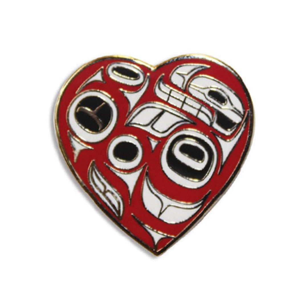 Enamel Pin - Heart by Ben Houstie, Bella Bella