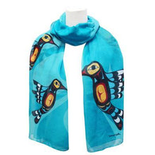 Load image into Gallery viewer, Francis Dick Hummingbird Artist Scarf