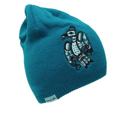 Francis Dick Raven Embroidered Knitted Hat
