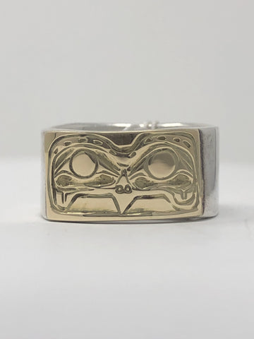 "1/2"" Eagle Ring Gold Onlay - Size 11 By Jeff McDougall"