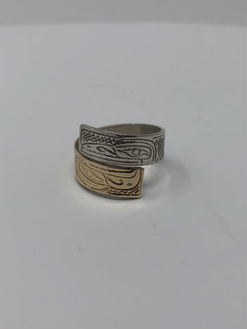 Wrap Ring Gold+Silver by Val Lancaster