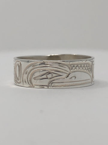 "1/4"" Raven Ring - Size 9 By Billy Cook"