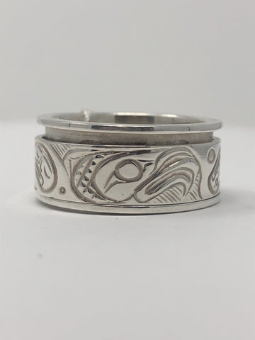 "1/2"" Fidget Ring - Eagle Size 10 By Jeff McDougall"