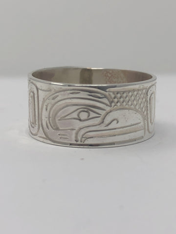 "3/8"" Raven Ring - Size 11 By Billy Cook"