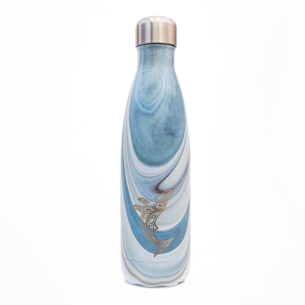 Insulated Bottle - Humpback Whale by Gordon White, Haida