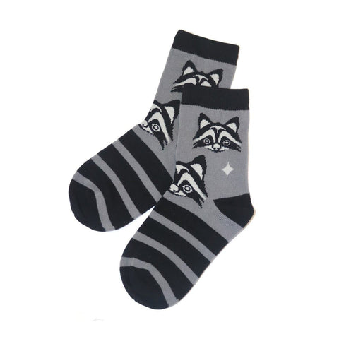 Kids Socks - Raccoon by Simone Diamond