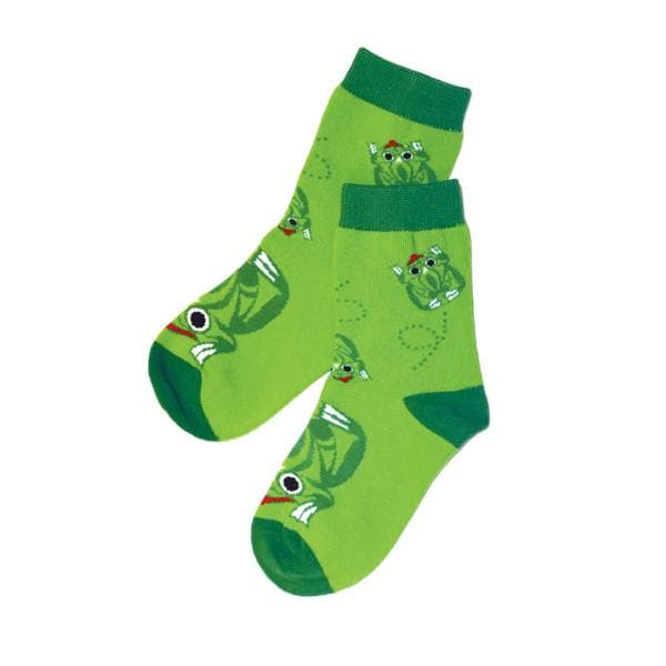Kids Socks - Frog by Maynard Johnny Jr., Coast Salish, Kwakwaka'wakw